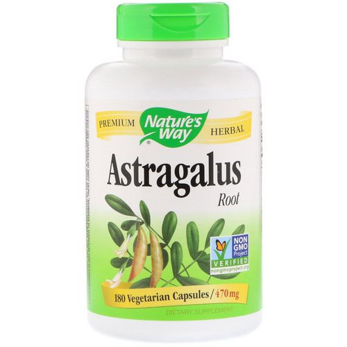 Nature's Way, Astragalus Root, 470 mg, 180 Vegetarian Capsules فوائد