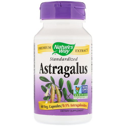 Nature's Way, Astragalus, Standardized, 60 Veg. Capsules فوائد