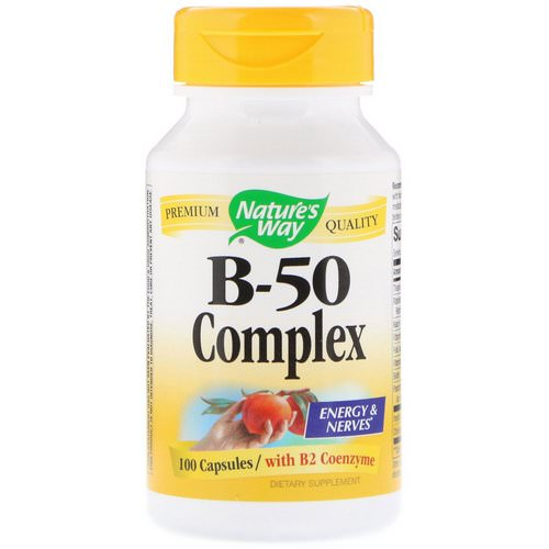 Nature's Way, B-50 Complex with B2 Coenzyme, 100 Capsules فوائد