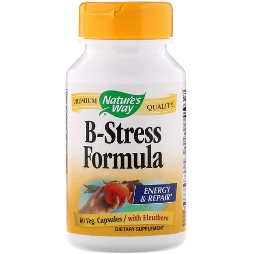 Nature's Way, B-Stress Formula, 60 Veg Capsules فوائد