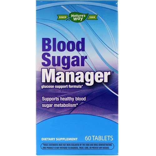 Nature's Way, Blood Sugar Manager, 60 Tablets فوائد