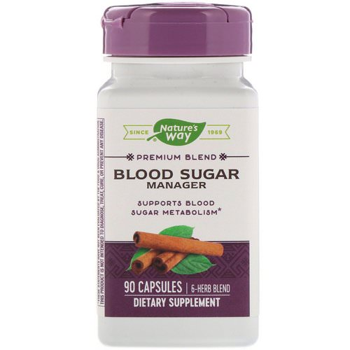 Nature's Way, Blood Sugar Manager, 90 Capsules فوائد