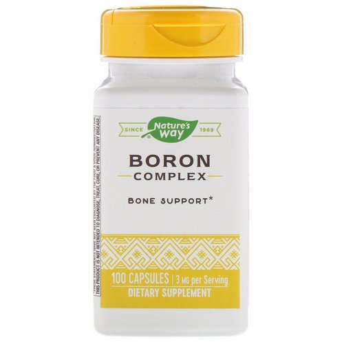 Nature's Way, Boron Complex, 3 mg, 100 Capsules فوائد