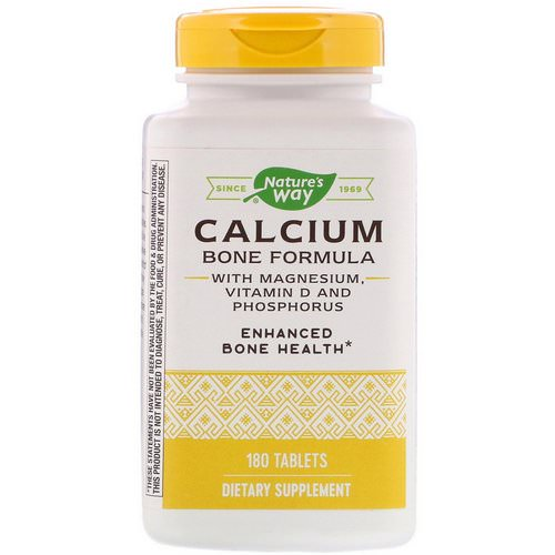 Nature's Way, Calcium Bone Formula with Magnesium, Vitamin D and Phosphorus, 180 Tablets فوائد
