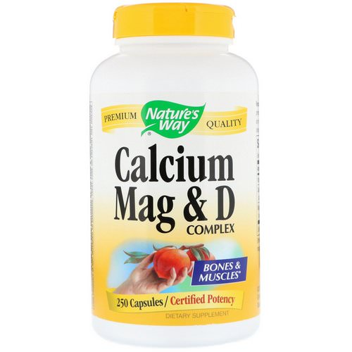 Nature's Way, Calcium Mag & D Complex, 250 Capsules فوائد