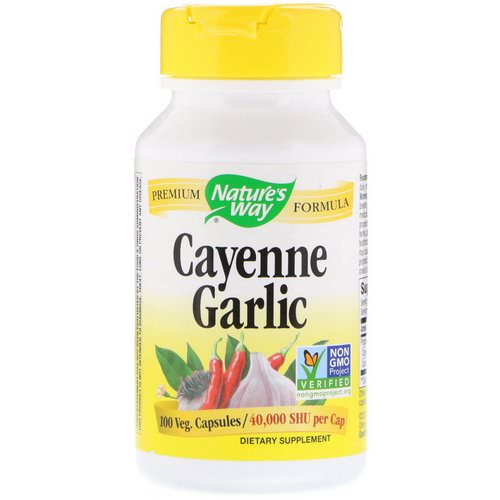Nature's Way, Cayenne Garlic, 10 Veg. Capsules فوائد