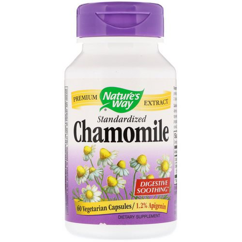 Nature's Way, Chamomile, Standardized, 60 Vegetarian Capsules فوائد