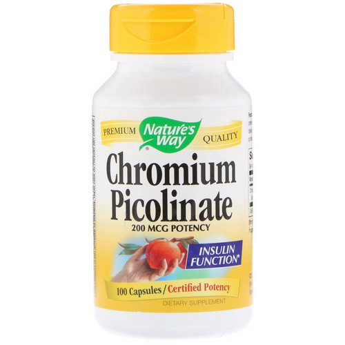 Nature's Way, Chromium Picolinate, 200 mcg, 100 Capsules فوائد