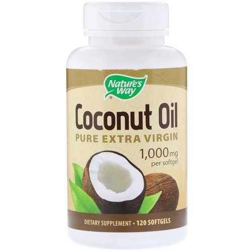 Nature's Way, Coconut Oil, Pure Extra Virgin, 1,000 mg, 120 Softgels فوائد