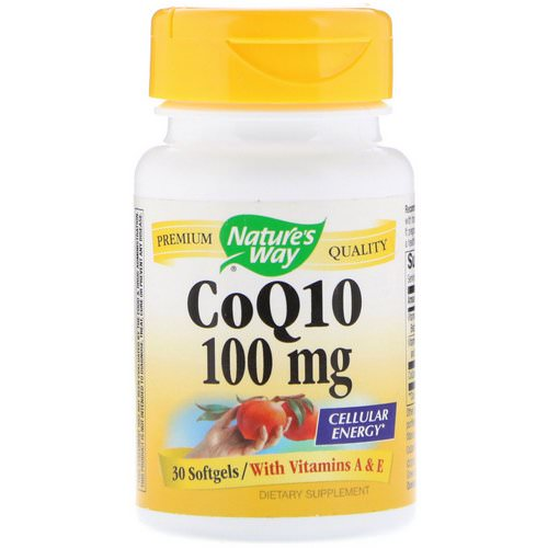 Nature's Way, CoQ10, 100 mg, 30 Softgels فوائد