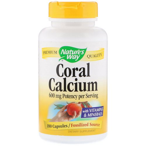 Nature's Way, Coral Calcium, 600 mg, 180 Capsules فوائد