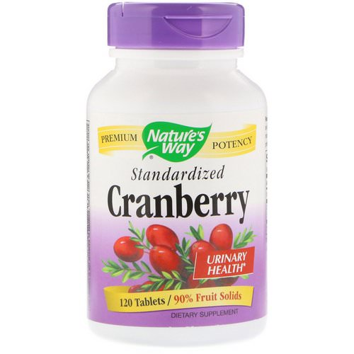 Nature's Way, Cranberry, Standardized, 120 Tablets فوائد