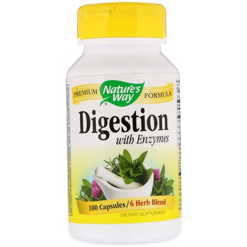 Nature's Way, Digestion, with Enzymes, 100 Capsules فوائد