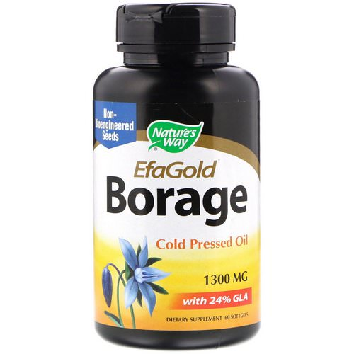 Nature's Way, EfaGold, Borage, 1,300 mg, 60 Softgels فوائد