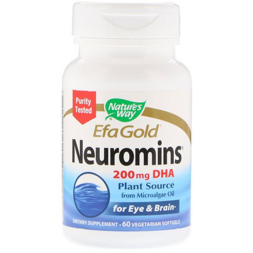 Nature's Way, EfaGold, Neuromins, 60 Vegetarian Softgels فوائد