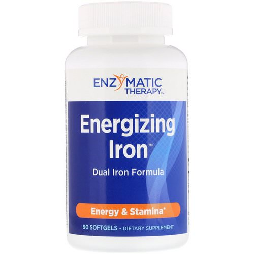 Nature's Way, Energizing Iron, Dual Iron Formula, 90 Softgels فوائد
