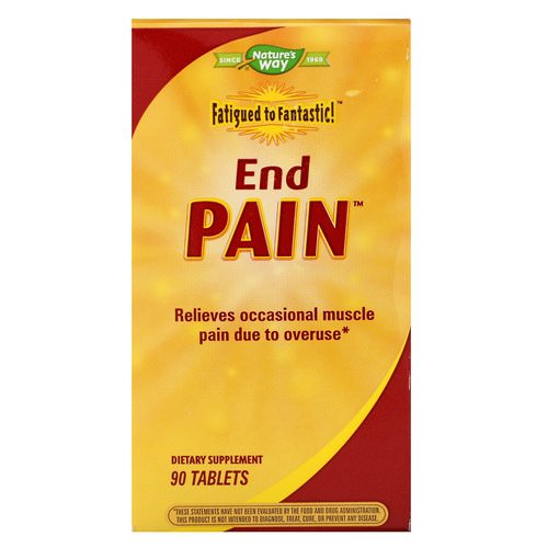 Nature's Way, Fatigued to Fantastic! End Pain, 90 Tablets فوائد