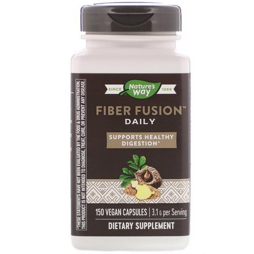 Nature's Way, Fiber Fusion Daily, 150 Vegan Capsules فوائد