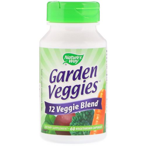 Nature's Way, Garden Veggies, 60 Vegetarian Capsules فوائد