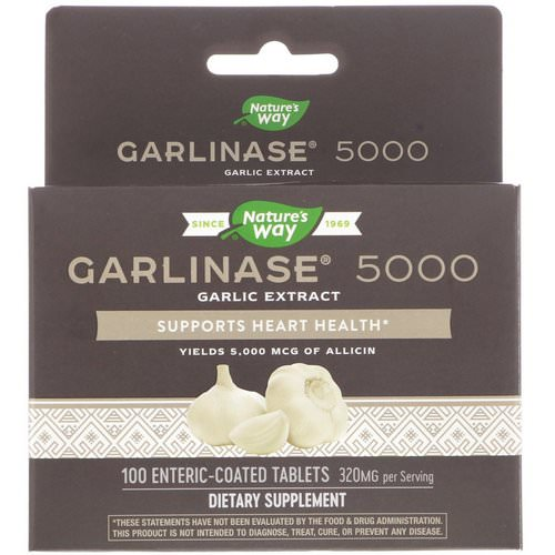 Nature's Way, Garlinase 5000, 320 mg, 100 Enteric-Coated Tablets فوائد