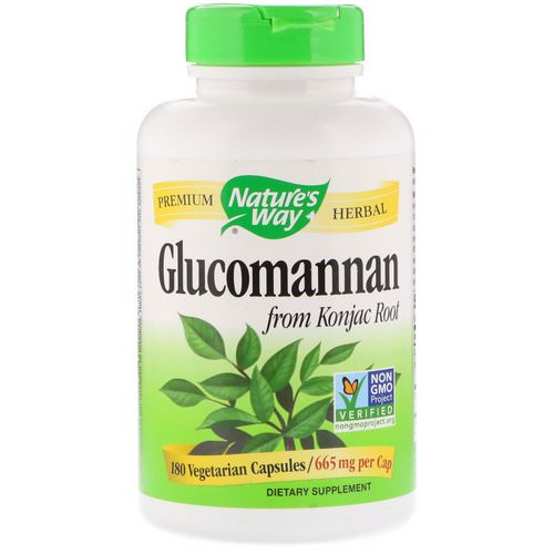 Nature's Way, Glucomannan from Konjac Root, 665 mg, 180 Vegetarian Capsules فوائد