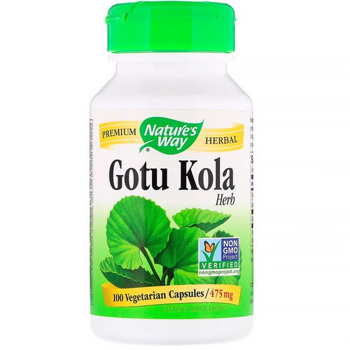 Nature's Way, Gotu Kola Herb, 475 mg, 100 Vegetarian Capsules فوائد