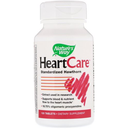 Nature's Way, HeartCare, Standardized Hawthorn, 120 Tablets فوائد