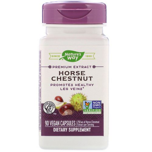 Nature's Way, Horse Chestnut, 250 mg, 90 Vegan Capsules فوائد