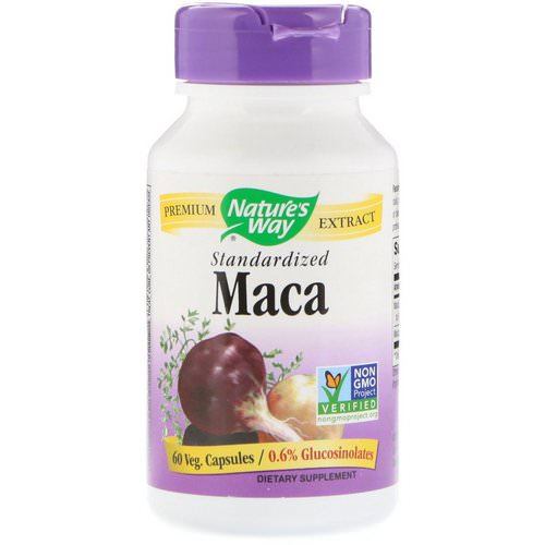 Nature's Way, Maca, Standardized, 60 Veg. Capsules فوائد