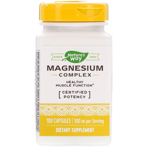 Nature's Way, Magnesium Complex, 500 mg, 100 Capsules فوائد