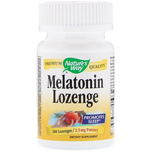 Nature's Way, Melatonin Lozenge, 2.5 mg, 100 Lozenges فوائد