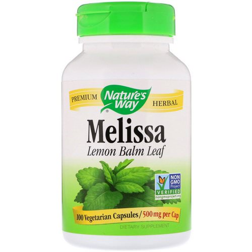 Nature's Way, Melissa, Lemon Balm Leaf, 500 mg, 100 Vegetarian Capsules فوائد