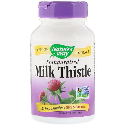 Nature's Way, Milk Thistle, Standardized, 120 Veg. Capsules فوائد