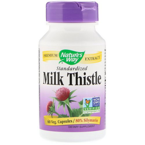 Nature's Way, Milk Thistle, Standardized, 60 Veg. Capsules فوائد