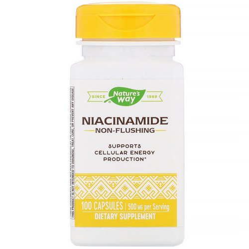 Nature's Way, Niacinamide, 500 mg, 100 Capsules فوائد