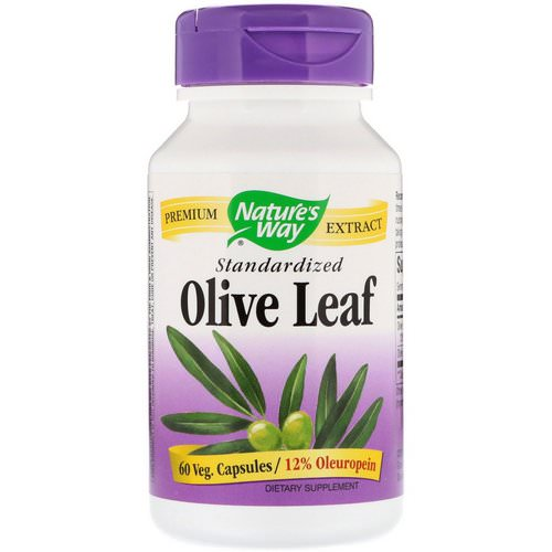 Nature's Way, Olive Leaf, Standardized, 60 Veg. Capsules فوائد