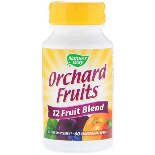 Nature's Way, Orchard Fruits, 12 Fruit Blend, 60 Vegetarian Capsules فوائد