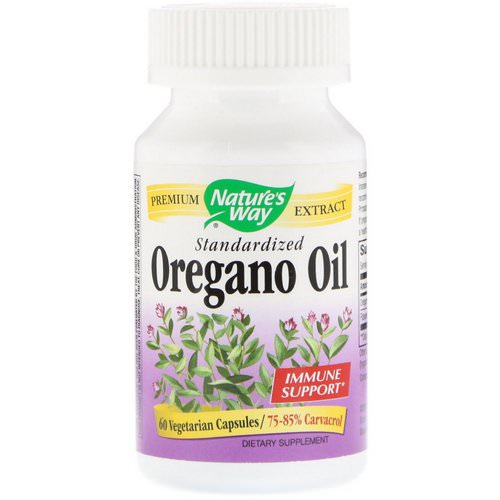 Nature's Way, Oregano Oil, Standardized, 60 Vegetarian Capsules فوائد