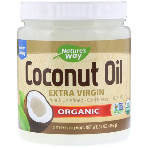 Nature's Way, Organic, Coconut Oil, Extra Virgin, 2 lbs (896 g) فوائد
