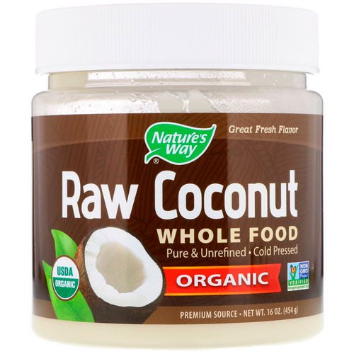 Nature's Way, Organic Raw Coconut Whole Food, 16 oz (454 g) فوائد