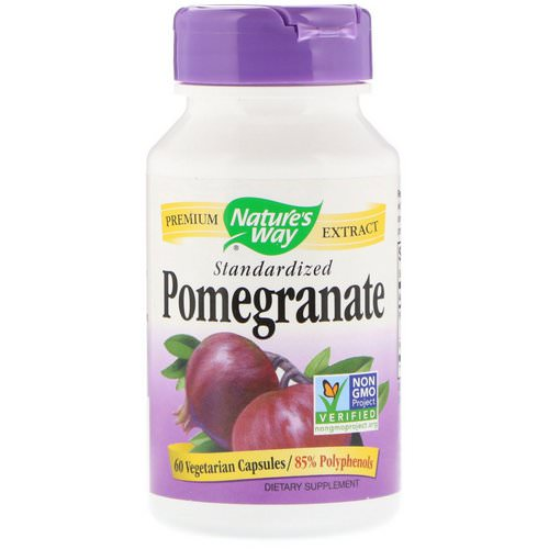 Nature's Way, Pomegranate, Standardized, 60 Vegetarian Capsules فوائد