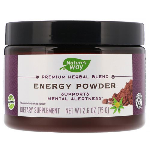 Nature's Way, Premium Herbal Blend, Energy Powder, 2.6 oz (75 g) فوائد