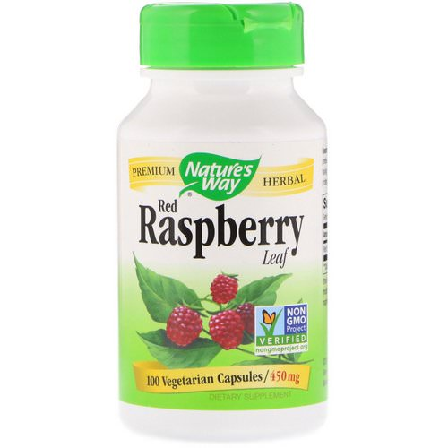 Nature's Way, Red Raspberry Leaf, 450 mg, 100 Vegetarian Capsules فوائد