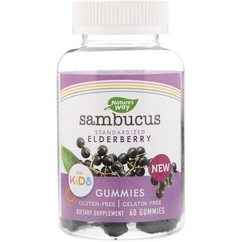 Nature's Way, Sambucus Gummies for Kids Standardized Elderberry, 60 Gummies فوائد