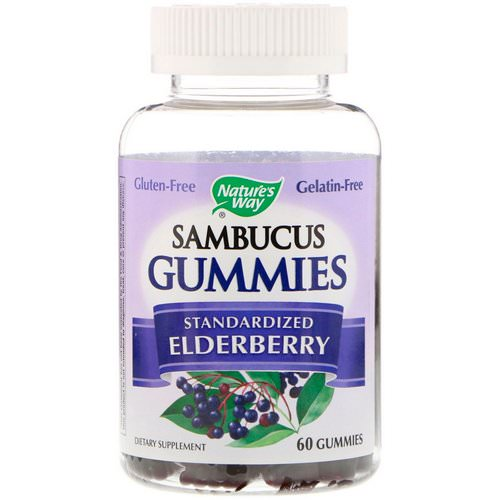 Nature's Way, Sambucus Gummies, Standardized Elderberry, 60 Gummies فوائد