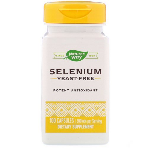 Nature's Way, Selenium, 200 mcg, 100 Capsules فوائد