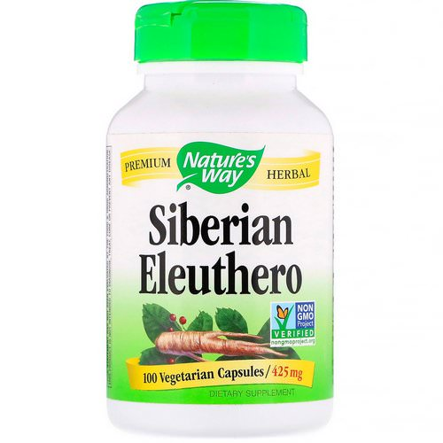 Nature's Way, Siberian Eleuthero, 425 mg, 100 Vegetarian Capsules فوائد