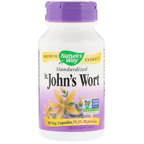 Nature's Way, St. John's Wort, Standardized, 90 Veg. Capsules فوائد