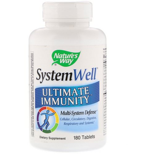 Nature's Way, System Well, Ultimate Immunity, 180 Tablets فوائد