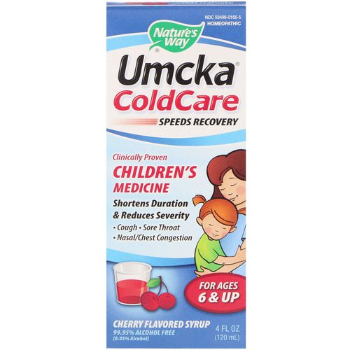 Nature's Way, Umcka ColdCare, Cherry Flavored Syrup, 4 fl oz (120 ml) فوائد